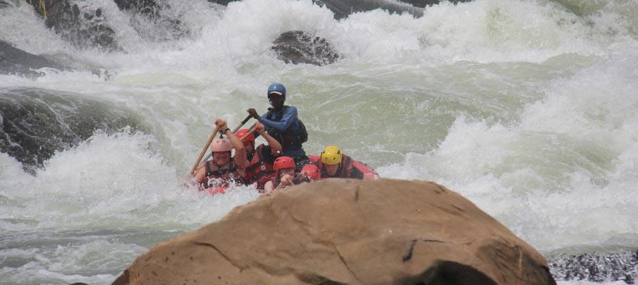 Bujagali Water Falls on the nile Uganda